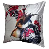 """Belkado Two Sparrows Cushion Cover Throw Pillow ( Multi Color, 16""""x16"""" ) - B010LC7PYK"""