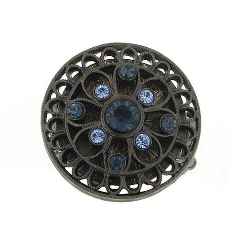 Montana Blue Round Flower Ring