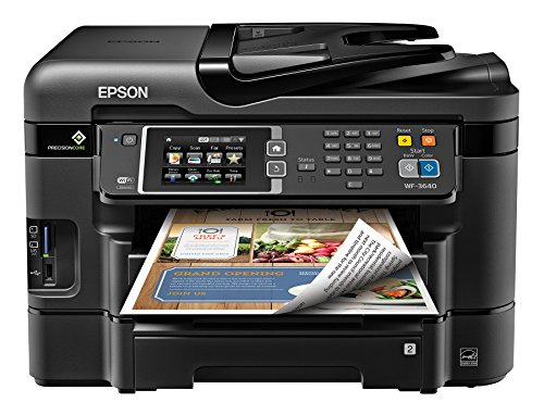 Epson WorkForce WF-3640 Wireless Color All-in-One Inkjet Printer with Scanner and Copier (E-Commerce Packaging) (Epson Laser Color Printer compare prices)