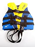 O'Neill Wetsuits Wake Waterski Child Superlite USCG Life Vest, ,Yellow/Navy/Pacific 30-50 Pounds