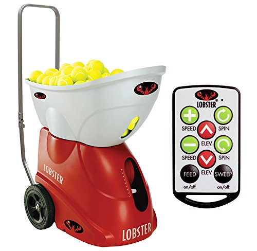 Lobster Sports Elite Two with Elite 10-Function Remote Control Tennis Ball Machine (Lobster Elite Remote compare prices)