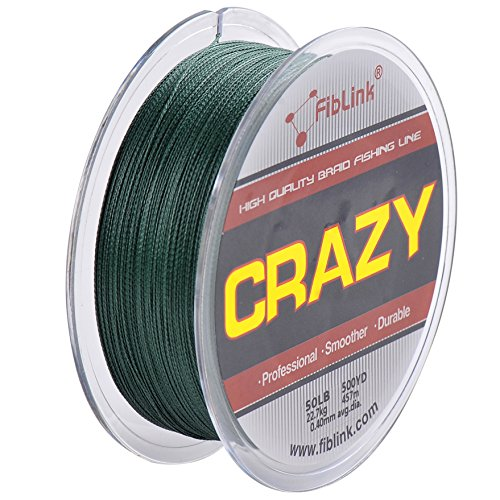 fiblink 4 strand braid braided fishing line green 300