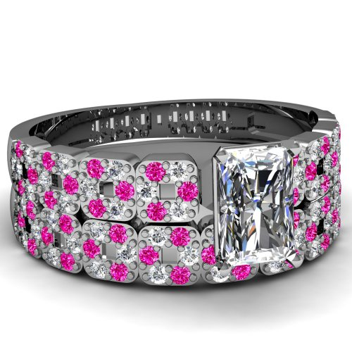 1.20 Ct Radiant Cut Diamond Engagement Wedding