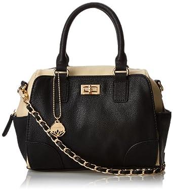 BIG BUDDHA Jlibra Top Handle Bag,Black,One Size