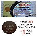 MAXELL 315 SR716SW - 1 Battery Official OEM Free Ship USA.