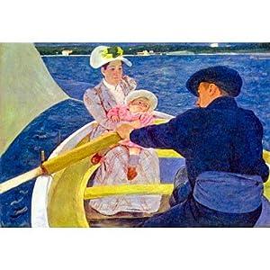 Mary Cassatt The Boat Travel Art Print Poster - 11x17