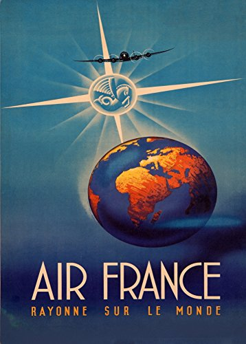 vintage-travel-france-with-air-france-around-the-world-c1940s-250gsm-gloss-art-card-a3-reproduction-