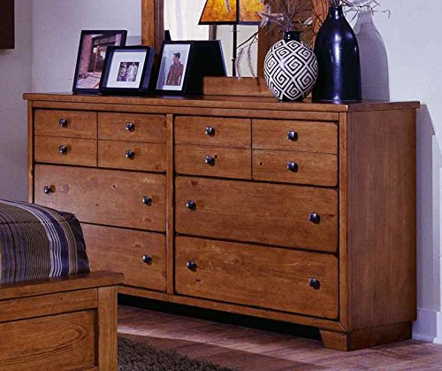 Dresser in Cinnamon Pine Finish