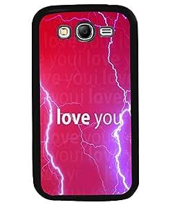 PrintVisa Metal Printed Love Quotes Designer Back Case Cover for Samsung Galaxy Grand Neo Plus I9060I-D5120