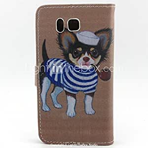 GENERIC Dog Pattern Pattern Full Body Cover with Card Slot for Samsung Trend 3 Galaxy Grand Prime #04040733