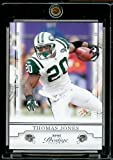 2008 Playoff Prestige # 70 Thomas Jones New York Jets NFL Football Card in Screw Down