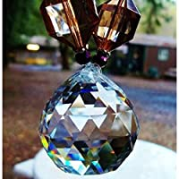 Leegoal(TM) 40mm Fashion Decoration Artificial Crystal Ball Prism Pendant,Transparent White by leegoal
