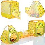 LCPKids 310 - 2 x Tenda gioco per bambini pop up con tunnel +100 palline