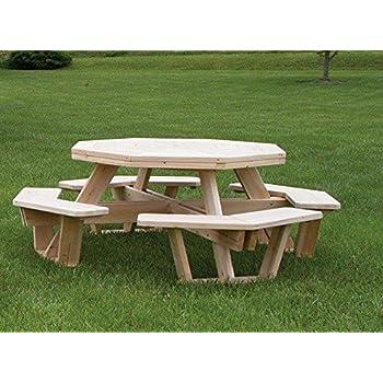 White Cedar Octagon/ Walk- In Picnic Table