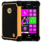 CellJoy® Triple Defender Layered Armor Back Cover Case for Nokia Lumia 521 (At&t / Metro / T-Mobile / Cricket) ***WILL NOT FIT LUMIA 520*** [CellJoy Retail Packaging] (Orange / Black)