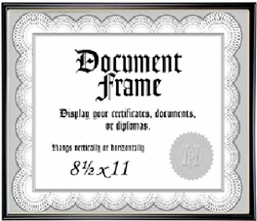 Malden Home Profiles Metro Black Document Frame, 8-1/2-Inch by 11-Inch