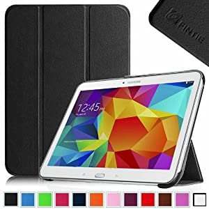 Fintie Samsung Galaxy Tab 4 10.1 (10-Inch) / Tab 4 Nook 10.1 Smart Shell Case - Ultra Slim Lightweight Stand Cover with Auto Sleep/Wake Feature (Will Not Fit Samsung Galaxy Tab 3 10.1), Black