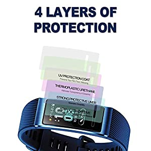 [6-Pack] SPGuard Compatible Huawei Band 3 Pro LiQuidSkin Screen Protector, HD Anti-Scratch Screen Protector for Huawei Band 3 Pro Sports Smartwatch[Active Protection] (Tamaño: 1)