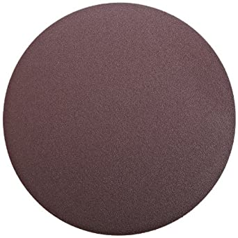 "3M PSA Cloth Disc 348D, X Weight Cloth, PSA Attachment, Aluminum Oxide, 12"" Diameter, 80 Grit, Brown (Pack of 10)"
