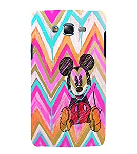 printtech Disneyy Mickey Mouse Sketch Back Case Cover for Samsung Galaxy Core 2 G355H