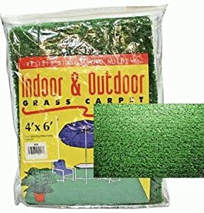 Outdoor Grass Mat for Patios, RV, Camping (4x6 Feet), Green