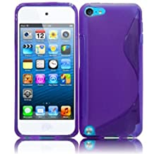 buy Vmg +Eb For Apple Ipod Touch 5 / Itouch 5 5Th Gen (5Th Gen; Current, Latest Model; 2012-2014 Version) Slim-Fit Premium Firm Gel Mp3 Player Tpu Sleek & Slim Case Cover - Purple Skyline Design + Free Black Earbud (Ear Bud) Gift