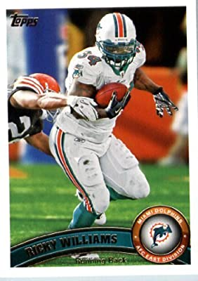2011 Topps Football Card #298 Ricky Williams - Miami Dolphins - NFL Trading Card