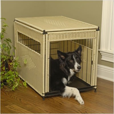 Pet Residence in Natural Wicker Size: Small