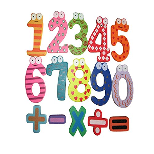 Susenstone(Tm) Magnetic Wooden Numbers Math Set Digital Baby Educational Toy front-10643