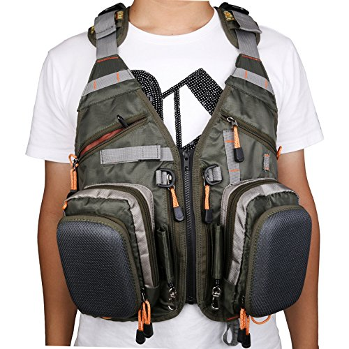 Maxcatch fly fishing vest mesh vest free size sporting for Fly fishing vest