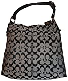 Women's Coach Purse Handbag Penelope Signature Shoulder Bag Black/White/Black