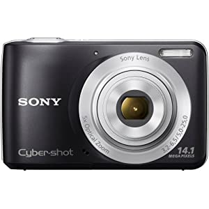 Sony Cybershot DSC-S5000 14.1MP Point & Shoot Digital Camera with 5x Optical Zoom (Black)