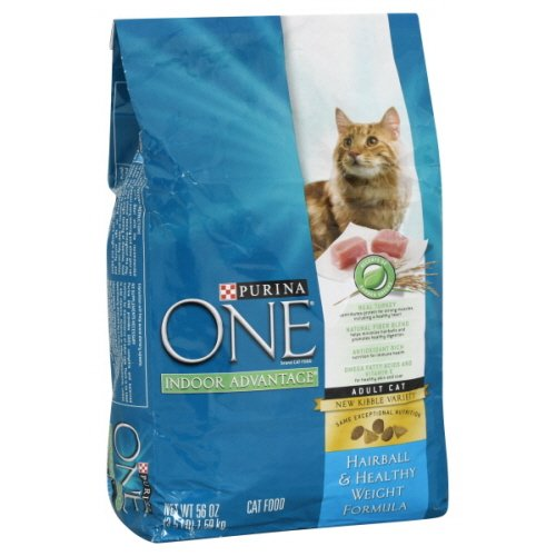 Purina One Indoor Advantage Cat Food, Adult Cat, Hairball & Healthy Weight Formula, 3.5 Lb