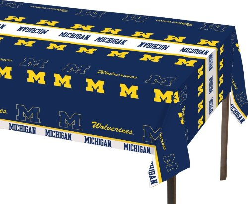 Creative-Converting-Michigan-Wolverines-Plastic-Banquet-Table-Cover