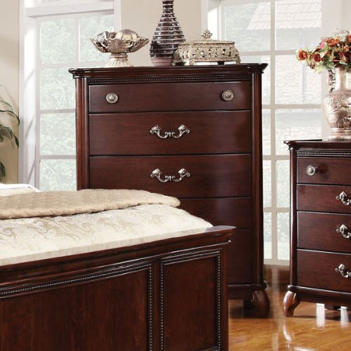 Claymont Classic Style Cherry Finish Bedroom Chest front-1065716