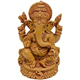 Ganesha Idol Murti Of Polyresin Lord Ganesh Brown Statue For Home And Office - B01KHD6AZ8