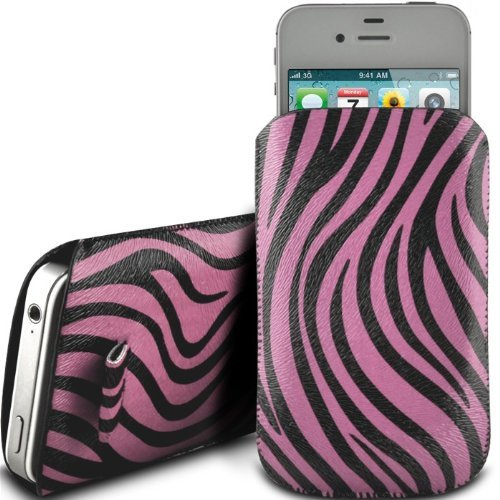 N4U Online Pink Zebra Premium Pu Leather Pull Flip Tab Case Cover Pouch For Samsung Galaxy S Blaze 4G T769
