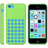 Ultra Slim Silicon Colourful Case for New Apple iPhone 5C Retro Dots Hole (Green)