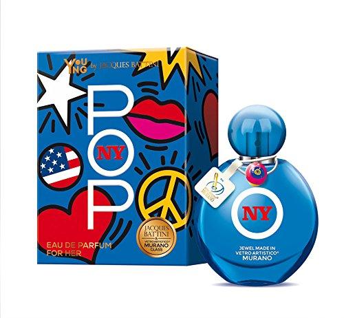 """Young Line """"New York"""" by Jacques Battini profumo donna 50 ml con perle di vetro della Murano"""