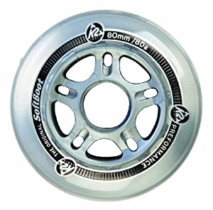 K2 Skate Rollen 80 mm Wheel 8-Pack /IIQ 7 Alum Spacer, One size, 3113009.1.1.1SIZ