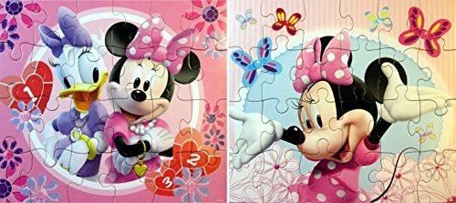 Disney Jigsaw Puzzles for Kids - Minnie Mouse 24 Piece Puzzles (2 Puzzles)
