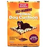 Simple Solution Self-Warming Thermal Dog Cushion, 28-Inch by 40-Inch, Beige ~ Simple Solution