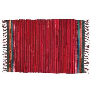 Mediterranean Red Recycled Rag Rug from dotcomgiftshop