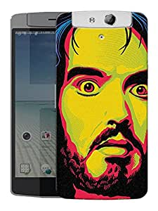 "Humor Gang Russel Brand Art Printed Designer Mobile Back Cover For ""Oppo N1"" (3D, Matte, Premium Quality Snap On Case)"