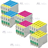 24x Inks (8x T1282 8x T1283 8x T1284) Ink Cartridges compatible for epson stylus S22 SX125 SX130 SX230 SX235W SX420W SX425W SX430W SX440W SX445W & OFFICE BX305F BX305FW Plus printers