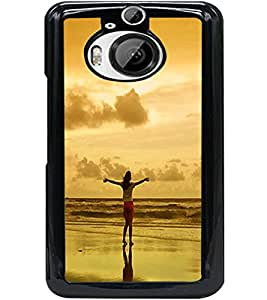 ColourCraft Amazing Sunset Design Back Case Cover for HTC ONE M9 PLUS