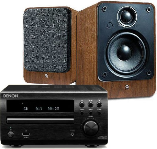 Denon RCD-M39DAB (Black) Micro CD Receiver System with Q Acoustics 2010i Speakers (Walnut). Includes 5 metres... Black Friday & Cyber Monday 2014