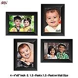 Ajanta Royal Classic set of 4 Individual Photo Frames (4-4x6 Inch) - WPC-11