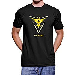 Pokemon Go Team Instinct T Shirt (Black, XL)