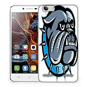 Snoogg bulldog dog head mascot Designer Protective Back Case Cover For Lenovo K5 Vibe
